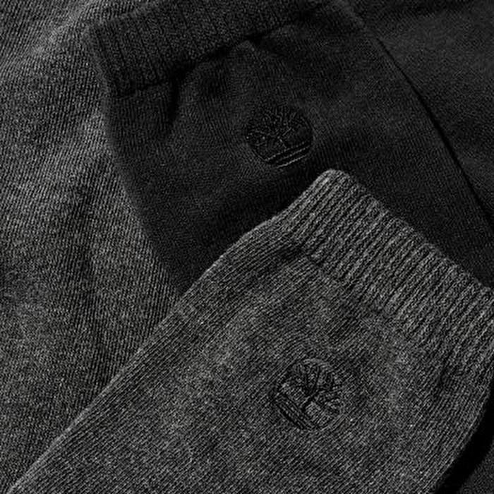 İki Çift Günlük Gri/Siyah Erkek Uzun Çorap