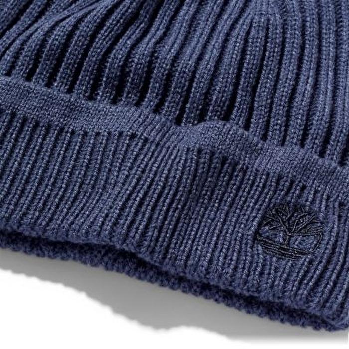 Fitilli Örgü Lacivert Erkek Şapka