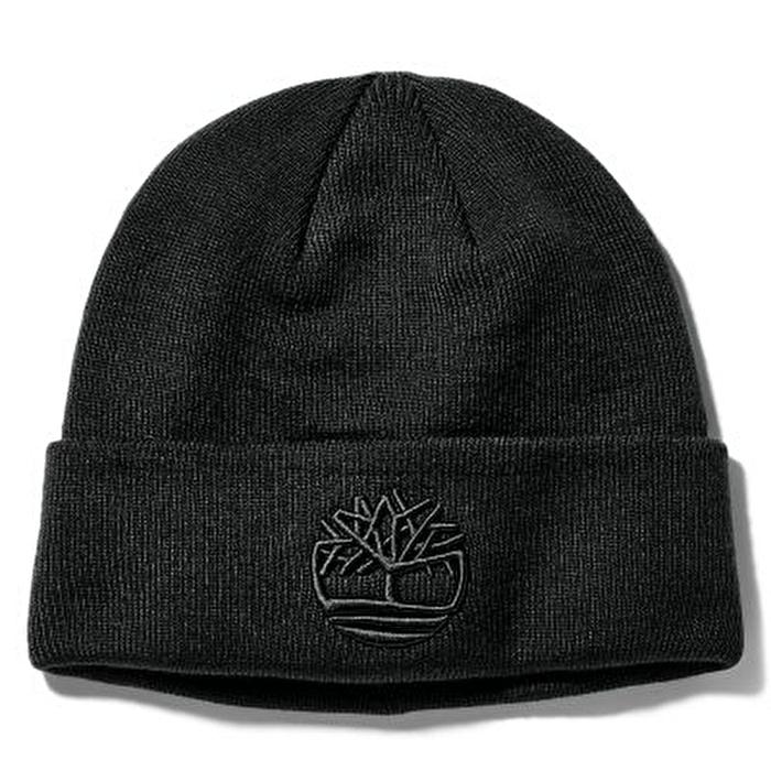 Newington İşlemeli Siyah Erkek Şapka