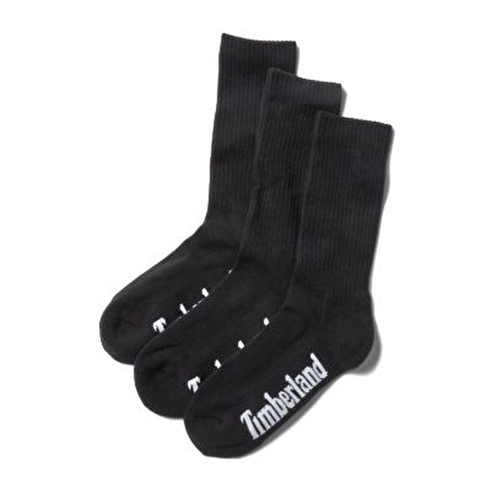 Stratham 3'lü Paket Siyah Erkek Spor Çorabı
