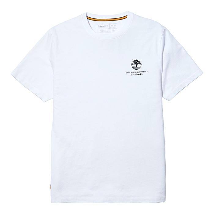 Coastal Cool Grafik Baskılı Beyaz Erkek T-shirt